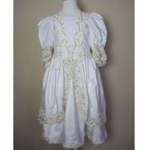 Girls Dress Sz 8 10 Wedding Bridal Princess VTG